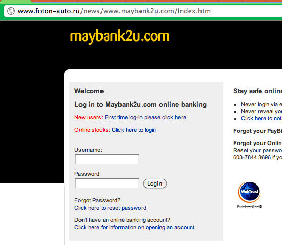 FarhanFaisal | Beware of phishing site